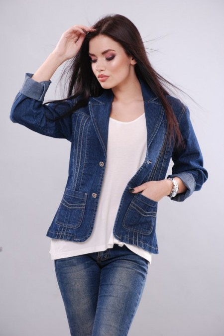 Джинсовая куртка KSU-KSU 30104-35